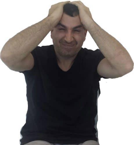 איש עם כאב ראש