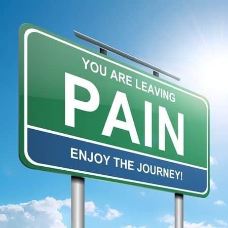 שלט לעזוב את הכאב